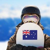 Australia Flag Sticker on a Snowboard example