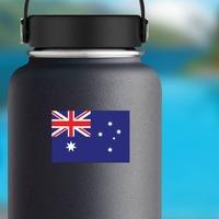 Australia Flag Sticker on a Water Bottle example