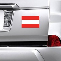 Austria Country Flag Magnet on a Car Bumper example