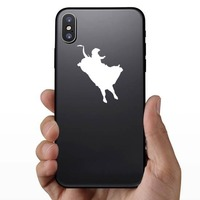 Awesome Cowboy Rodeo Bull Rider Sticker on a Phone example