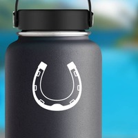 Awesome Horseshoe Sticker on a Water Bottle example