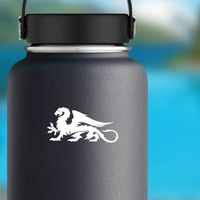 Awesome Large Dragon Sticker on a Water Bottle example