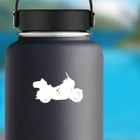 Motorcycle Shape Sticker on a Water Bottle example