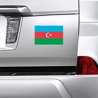 Azerbaijan Flag Magnet on a Car Bumper example