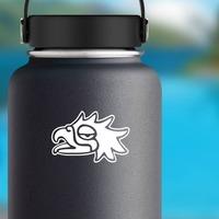 Aztec Eagle Bird Sticker on a Water Bottle example