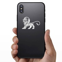 Aztec Lion Sticker on a Phone example