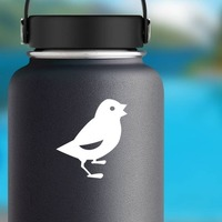 Baby Chick Chicken Chirping Sticker on a Water Bottle example