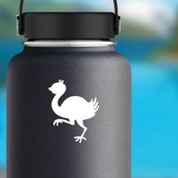 Baby Ostrich Bird Sticker on a Water Bottle example