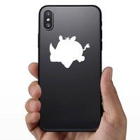 Baby Rhinoceros Sticker on a Phone example