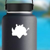 Baby Rhinoceros Sticker on a Water Bottle example