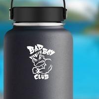 Bad Boy Sticker on a Water Bottle example
