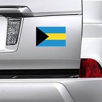 Bahamas Flag Magnet on a Car Bumper example
