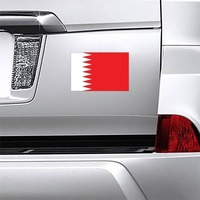 Bahrain Country Flag Magnet on a Car Bumper example