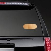 Beige Bandage Sticker on a Rear Car Window example