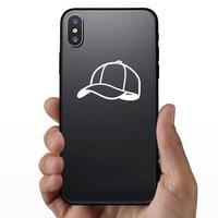 Baseball Hat or Softball Cap Sticker on a Phone example