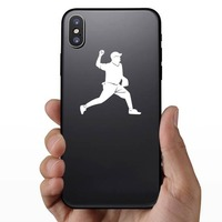 Baseball Pitcher Pitching Sticker on a Phone example