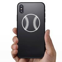 Baseball or Softball Fastball Sticker on a Phone example