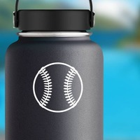Baseball or Softball Fastball Sticker on a Water Bottle example