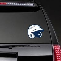 Baseball or Softball Helmet with Shading Sticker on a Rear Car Window example