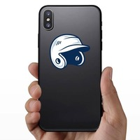 Baseball or Softball Helmet with Shading Sticker on a Phone example
