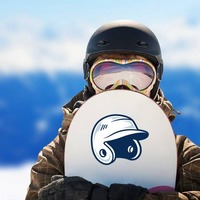 Baseball or Softball Helmet with Shading Sticker on a Snowboard example