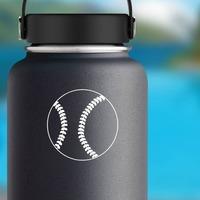 Baseball Softball Sticker on a Water Bottle example