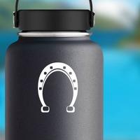 Basic Horseshoe Sticker on a Water Bottle example