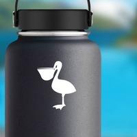 Basic Pelican Bird Sticker on a Water Bottle example