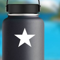 Basic Star Shape Sticker on a Water Bottle example