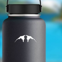 Bat Wings Facing Down Sticker on a Water Bottle example
