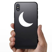 Beautiful Cresent Moon Sticker on a Phone example