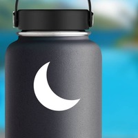 Beautiful Cresent Moon Sticker on a Water Bottle example