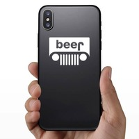 Beer Jeep Sticker on a Phone example