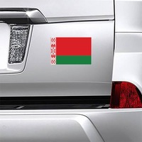 Belarus Country Flag Magnet on a Car Bumper example