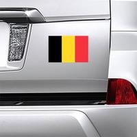 Belgium Flag Magnet on a Car Bumper example