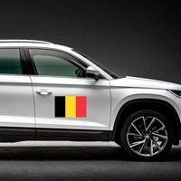 Belgium Flag Magnet on a Car Side example