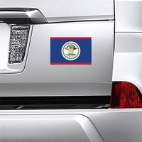 Belize Country Flag Magnet on a Car Bumper example