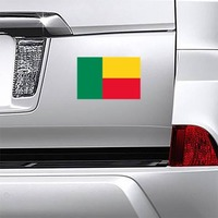 Benin Flag Magnet on a Car Bumper example