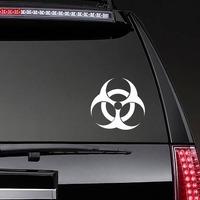 Biohazard Sticker on a Rear Car Window example