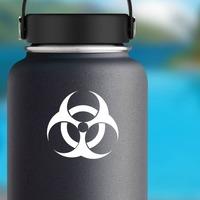 Biohazard Sticker on a Water Bottle example