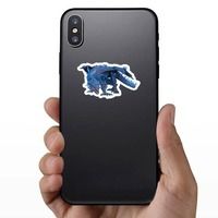 Blue Crystal Dragon Sticker on a Phone example