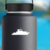 Boat Sticker on a Water Bottle example