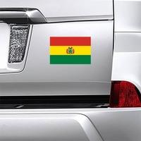 Bolivia Flag Magnet on a Car Bumper example