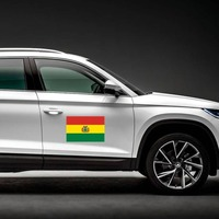 Bolivia Flag Magnet on a Car Side example