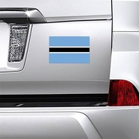 Botswana Flag Magnet on a Car Bumper example