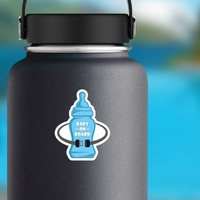 Bottle and Seat Belt Baby on Board Sticker on a Water Bottle example