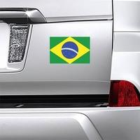 Brazil Flag Magnet on a Car Bumper example