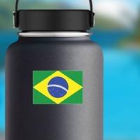 Brazil Flag Sticker on a Water Bottle example