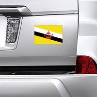 Brunei Country Flag Magnet on a Car Bumper example
