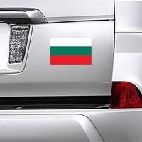 Bulgaria Flag Magnet on a Car Bumper example